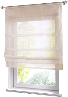BxH 80x100cm grau in voile Tessuto trasparente Tenda a pacchetto con coulisse