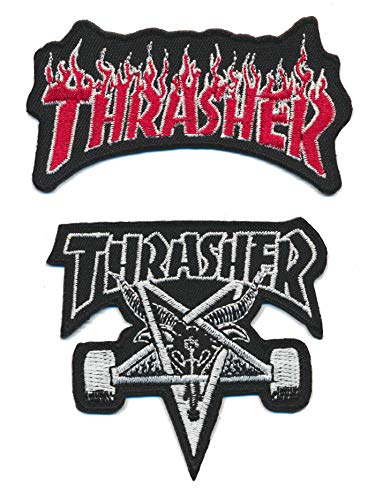 Racing Classics Thrasher Aufnäher Aufbügler Patch 2 Stück Skateboarder Magazine USA TURBOVERSAND
