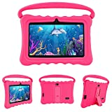 Kids Tablets PC, Veidoo 7 inch Android 8.1 Tablet with Google Play Store GMS Certification 16GB Storage, IPS Screen, Premium Parent Control Pre-Installed iWAWA APP, Best Gift for Kids (Fuchsia)