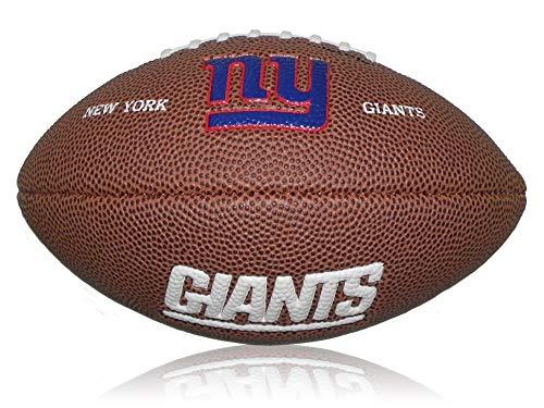 Wilson Football NFL Giants Logo, Braun, Mini