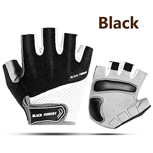 SunFlower Pro-Biker Fahrradhandschuhe, kurz, Leder, Motorrad- und Rennsport-Handschuhe, schwarz 1, L