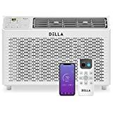 Della 10000 BTU Energy Star Window Air Conditioner 110V/60Hz Whisper Quiet AC For Rooms up to 450 sq ft, Cooling, Dehumidifier, Fan With Smart Control, Alexa, Remote