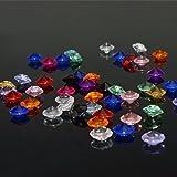 KAKOO 1000 Stück Deko Diamanten Dekosteine 10mm Funkelnde Kristall Glitzersteine