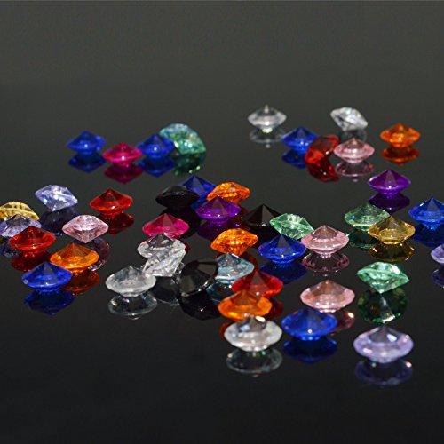 KAKOO 1000 Stück Deko Diamanten Dekosteine 10mm Funkelnde Kristall Glitzersteine Streudeko Hochzeit Tisch Dekoration Vasen Füller Blumen DIY Basteln (bunt)