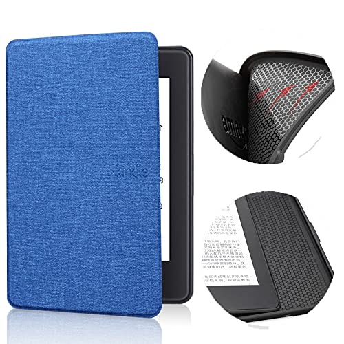 Funda de patrón de tela de color sólido para Kindle Paperwhite 4 - Auto Sleep Wake E-book Shell, Ultra-thin E-reader Protective Cover, E-reader Cover For Soft Case For Kindle 10th 2019 Silicon Case,B