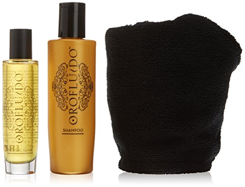 Revlon–Orofluido Cofanetto rituale di bellezza di notte con un Elixir di Bellezza 50ml e un Shampoo di 200ml e un turbant offerto