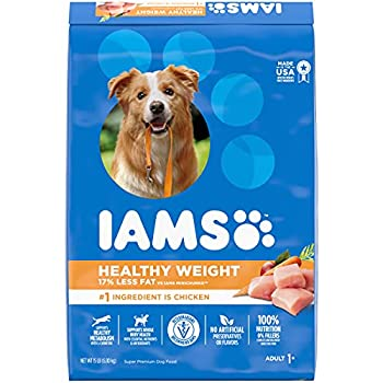 IAMS PROACTIVE HEALTH Adult Healthy Weight Control Dry Dog Food with Real Chicken 15 lb Bag
