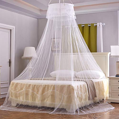 Baozun Moskitonetz, Groß Mückennetz inkl. Montagematerial, Betthimmel, Mückenschutz, MoskitoschutzF, Fliegennetz auch auf der Reise