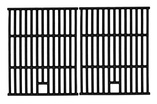 Hongso 17 1/4 Inch Matte Cast Iron Grates Cooking Grid Replacement Parts for Aussie 6703C8FKK1, 6804S8-S11, Brinkmann 810-9490-F, Nexgrill 720-0649, Member Mark Gas Grill, 2-Pack (PCD252)