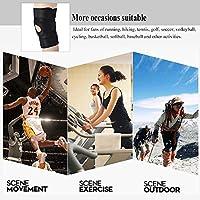 ハイキングサッカーとバレーボール用の膝キャップ膝サポート圧縮スリーブ通気性調節可能なフックとループストラップブラック