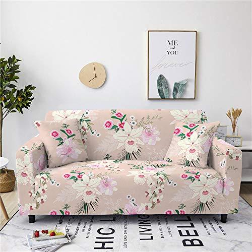 DJNCIA Elegante y Hermosa Funda de Flores Cubierta de sofá Cubierta de sofá elástica de algodón para Sala de Estar Cubierta de sofá Toalla de Toalla de sofá 1/2/3/4 plazas Funda de sofá