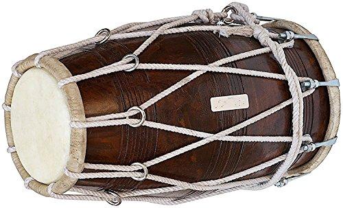 Maharaja Musicals, Special Dholak Drum in Profiqualität, Sheesham Holz, gepolsterte Tasche, Maulschlüssel, Dholki Musicals Instrument
