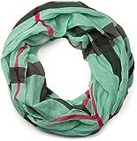 styleBREAKER fular de tubo con motivo a cuadros, ligero y sedoso, pañuelo, mujeres 01016110, color:Menta