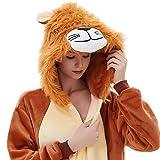 ABYED Adulte Unisexe Anime Animal Costume Cosplay Combinaison Pyjama Outfit Nuit Vetements Onesie Fleece Halloween...