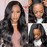 Synthetic Hair Wigs Body Wave Wigs for Women Natural Looking Human Hair Lace Frontal Wigs with Baby Hair Synthetic Hair Side Part Wigs Heat Resistant Fiber Wigs