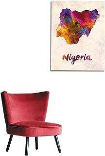 longbuyer Art Stickers Nigeria in Watercolor Mural 20