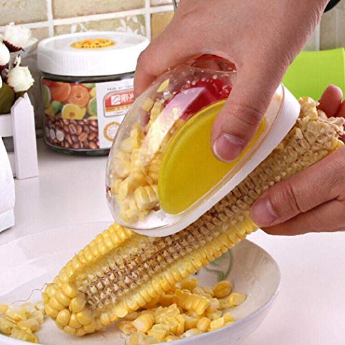 Corn Stripping Tool, ICEBLUEOR Practical Corn Peeler Corn Stripper Cob Remover Corn Shaver Gadgets Protect Hands from Incised Wound