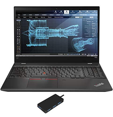 Lenovo ThinkPad P52s Workstation Laptop (Intel i7-8550U 4-Core, 32GB RAM, 512GB PCIe SSD, NVIDIA Quadro P500, 15.6' Full HD (1920x1080), Fingerprint, WiFi, Bluetooth, Webcam, Win 10 Pro) with USB Hub