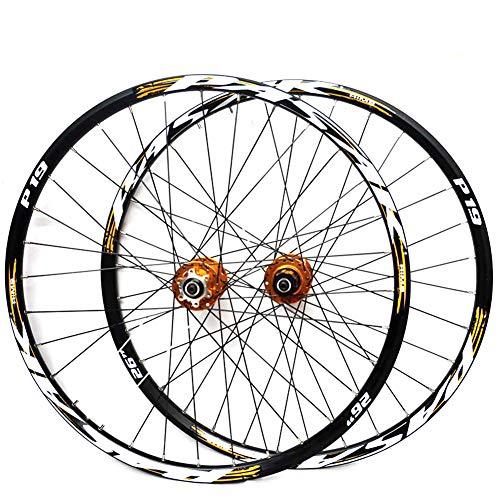 LYzpf Montaña Llantas Bicicleta Rueda Perfil Delantera Trasera Bici Rim Conjunto 26/27.5/29 Inch Accesorios de Equipamiento De Aleación Aluminio