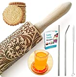 Paisley Embossed Rolling Pin 16' Engraved Rolling...