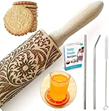 Paisley Embossed Rolling Pin 16