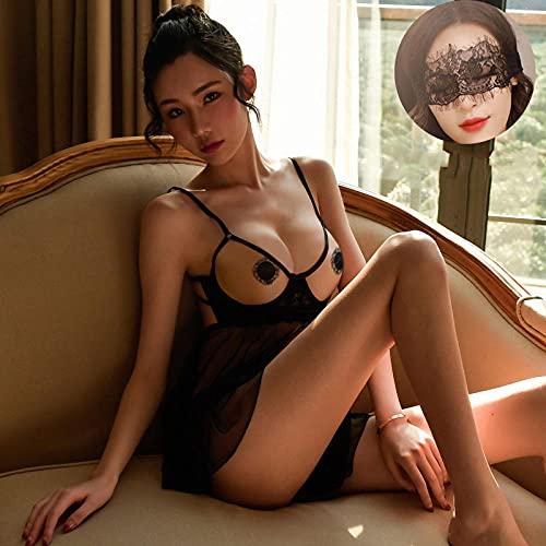 MLLM Conjunto de lencería sexy para mujer, camisón de malla perspectiva, lencería sexy de encaje, lencería sexy