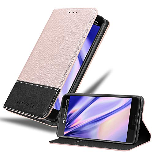 Cadorabo Hülle für HTC U Ultra in ROSÉ Gold SCHWARZ – Handyhülle mit Magnetverschluss, Standfunktion & Kartenfach – Hülle Cover Schutzhülle Etui Tasche Book Klapp Style