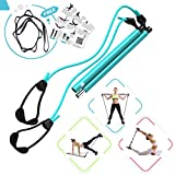 FLEXIES Portable Pilates Bar kit with FREE 8-Loop Stretch Band, Workout Videos & Exercise Manual +...