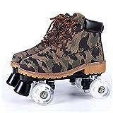 YUFENGDING Patins à roulettes pour Filles et garçons pour Les garçons et Les Filles Unisexes intérieures et extérieures Black wheel-C-35