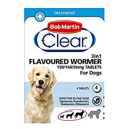 Bob Martin 3 in 1 dog de wormer worming tablet