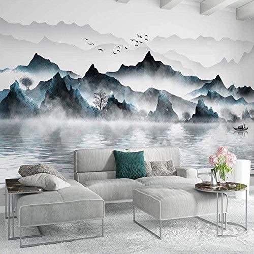 Wandbild Tapete New Chinese Style Tinte Landschaft Foto Wandbilder Wohnzimmer TV Sofa Studie Home Decor Poster-400cmx280cm