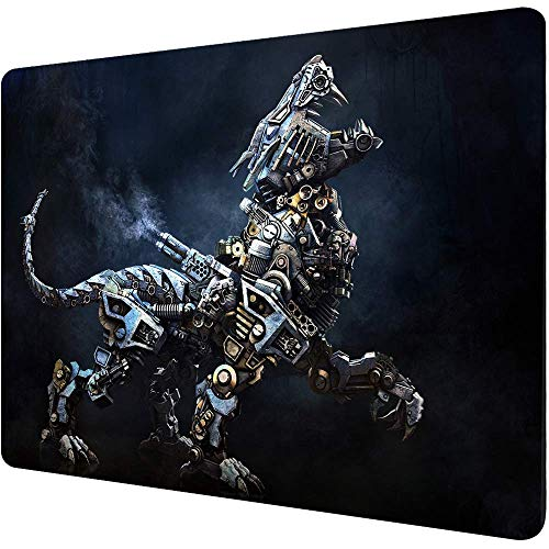 pabruna Small Mouse Pads with Designs Customized Mousepad Non-Slip Rubber Base Mouse Pads for Computers Laptop Office Desk Accessories Robot Tiger Cool Mouse pad for Teenagers and Men