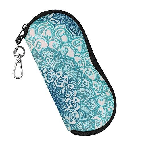 Fintie Brillenetui - [Ultraleicht] Neopren Reißverschluss Sonnenbrille Tasche Kratzfest staubsichere Brillenbox mit Gürtelclip für Schlüssel, Bleistifte, Karten - smaragdblau