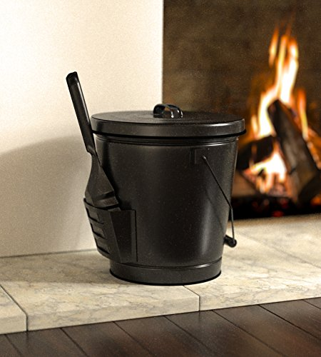 Panacea 15343 Ash Bucket with Shovel, Black 5 Ash bucket with shovel A specifically designed pocket on the side of the bucket holds the shovel, for an all in one unit, and the included lid keeps ash from spilling onto the floor This generous bucket holds plenty of ash from past fires, and the included shovel makes cleanup simple