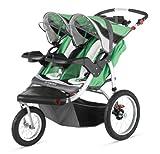 Schwinn Turismo Double Swivel Stroller, Green/Black