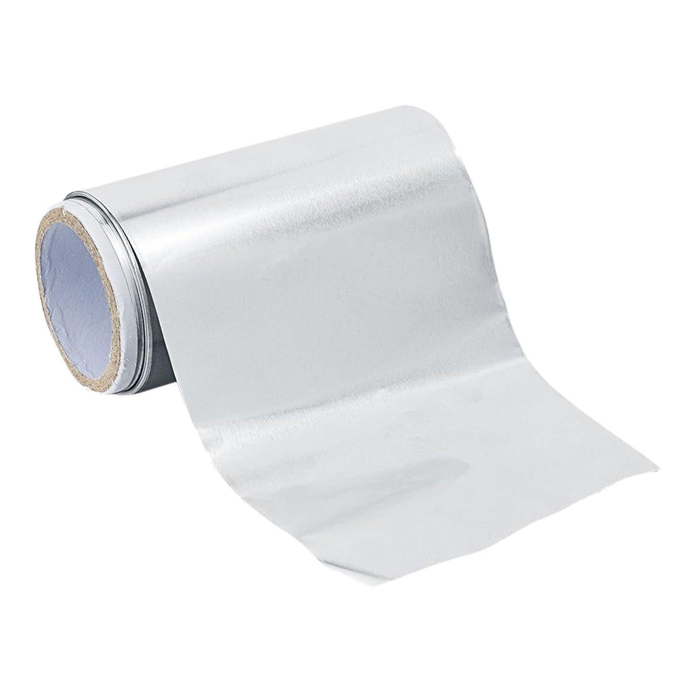 叱る波統計的Fenteer アルミニウム ヘア/ネイル用 錫箔紙 ネイルアート 爪化粧用具  クリーナーツール ジェル除却 5m