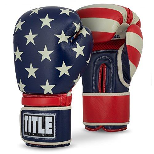 Title Boxing Patriot Bag Gloves, Red/White/Blue, 14 oz