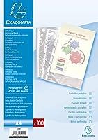 Exacompta PPパンチポケット、A4-クリア、100個入り
