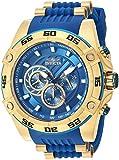Invicta Men's Speedway Stainless Steel Quartz Watch with Silicone Strap, Blue, 26 (Model: 25508)