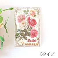 薔薇雑貨 サシェ袋 香袋 アロマ ローズの香り バラ 花柄 おしゃれ かわいい ローズ 薔薇雑貨<br>姫系 ボタニカル 母の日ギフト (B)