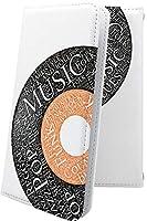 AQUOS R5G ケース 手帳型 ハート love kiss キス 唇 音楽 音符 楽器 レコード アクオス クラシック モノトーン classic aquosr5g ユニーク おもしろ おもしろケース 10488-qdfkgs-10001630-aquosr5g