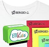 Sello personalizado para niños. Sello marcador de ropa y libros. (Verde)