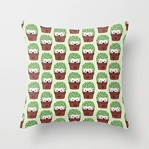 N\A Lindos erizos disfrazados de Cactus, Fundas de Almohada para el hogar, Interior, cojín estándar