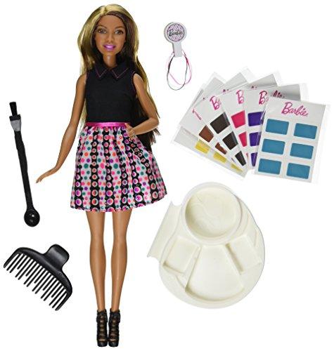 Mattel Barbie DHL91 - Modepuppen, Haarfarben-Zauber Barbie AA (African-American Version)