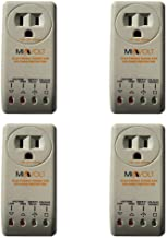 4-Pack 1800W Voltage Brownout Appliance Surge Protector 3-Years Warranty