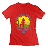 Women's Official Vault Survivor Vault Dweller 111 100% Cotton Tee Red