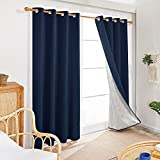 Deconovo Thermal Curtains 84 Inch Length for Living Room -...