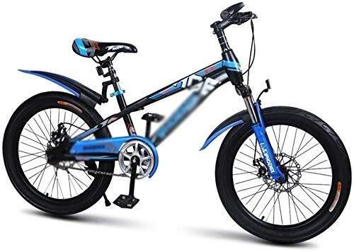 Mozusa. Biciclette for Bambini pedale for bambini Biciclette 18 pollici Student Mountain Bike Velocità ?? regolabile Student biciclette Studente bicicletta Mountain Bike (Colore: Blu, Formato: 18 poll