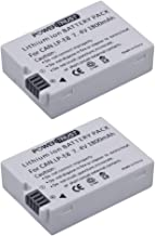 PowerTrust 2X 1800mAh LP-E8 Battery for Canon Rebel T3i, T2i, T4i, T5i, EOS 600D, 550D, 650D, 700D, Kiss X5, X4, Kiss X6 Digital Camera