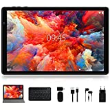 Android 10 Tablet Facetel Q3 Pro 10 inch Tablets: Octa-Core Processor, 3 GB RAM 32 GB Storage 128GB Extended Memory, Google GMS, Wi-Fi, Bluetooth, GPS, Keyboard & Mouse, Metal Black